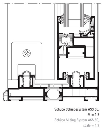 schuco ass50 aluminium sliding patio door system. Black Bedroom Furniture Sets. Home Design Ideas