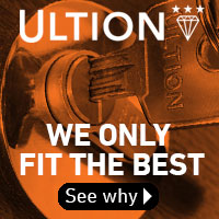 Ultion Locks fitted with Aluminium Frame Co products