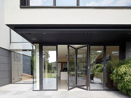 front door sliding bifold door