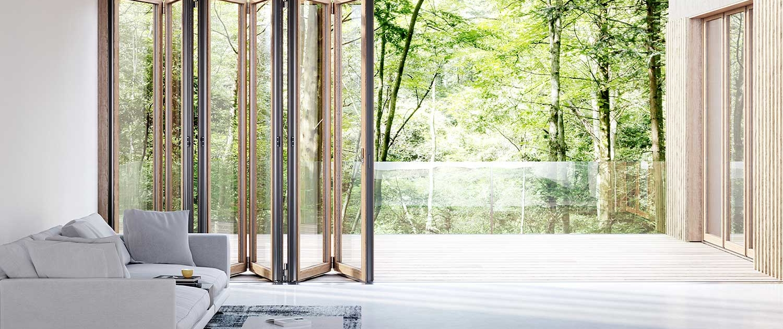 Solarlux Woodline Bi-folding Doors